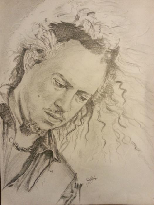 Kirk Hammett by metaldrawings